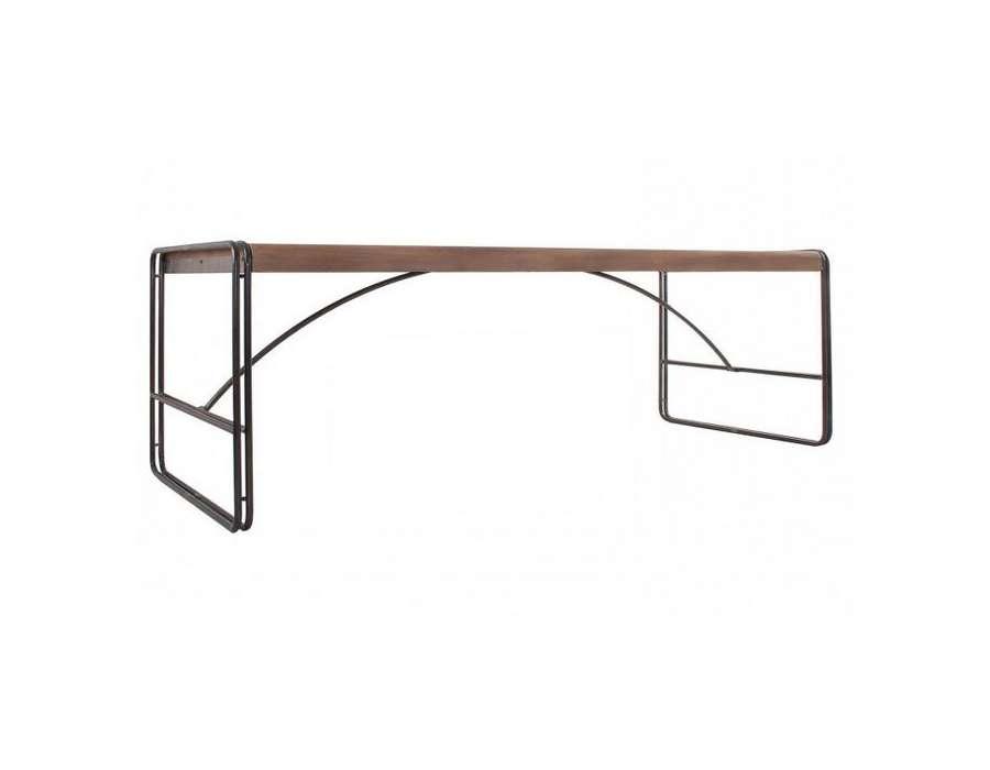 Grande table à manger industrielle 240 cm