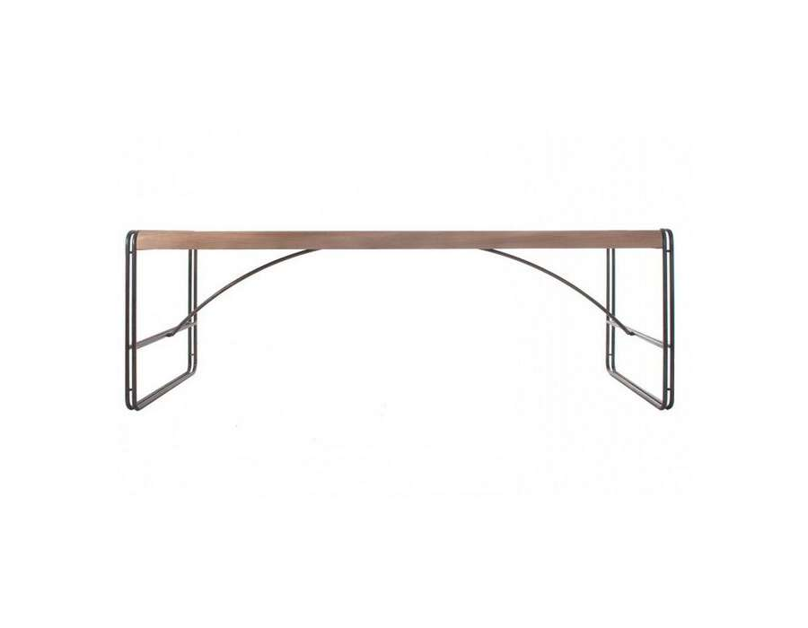 Grande table industrielle 240 cm pour plus de 10 personnes for Table salle a manger grande dimension
