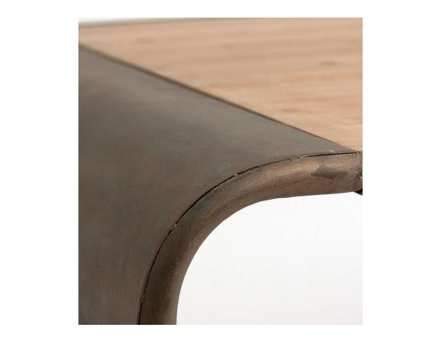 Grande table à manger industrielle 200 cm