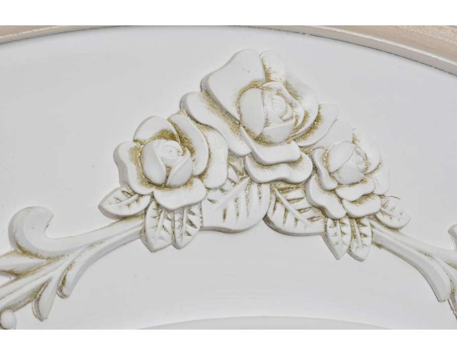 Vaisselier romantique blanc et lin Sofia