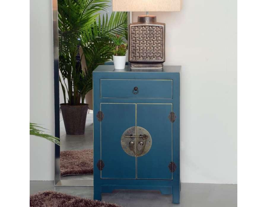petit meuble de rangement chinois bleu meuble chinois pas cher. Black Bedroom Furniture Sets. Home Design Ideas