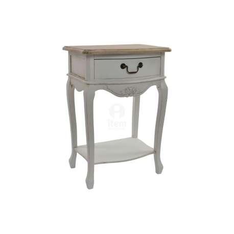Table de nuit blanche galb e pas chere - Chevet blanc romantique ...
