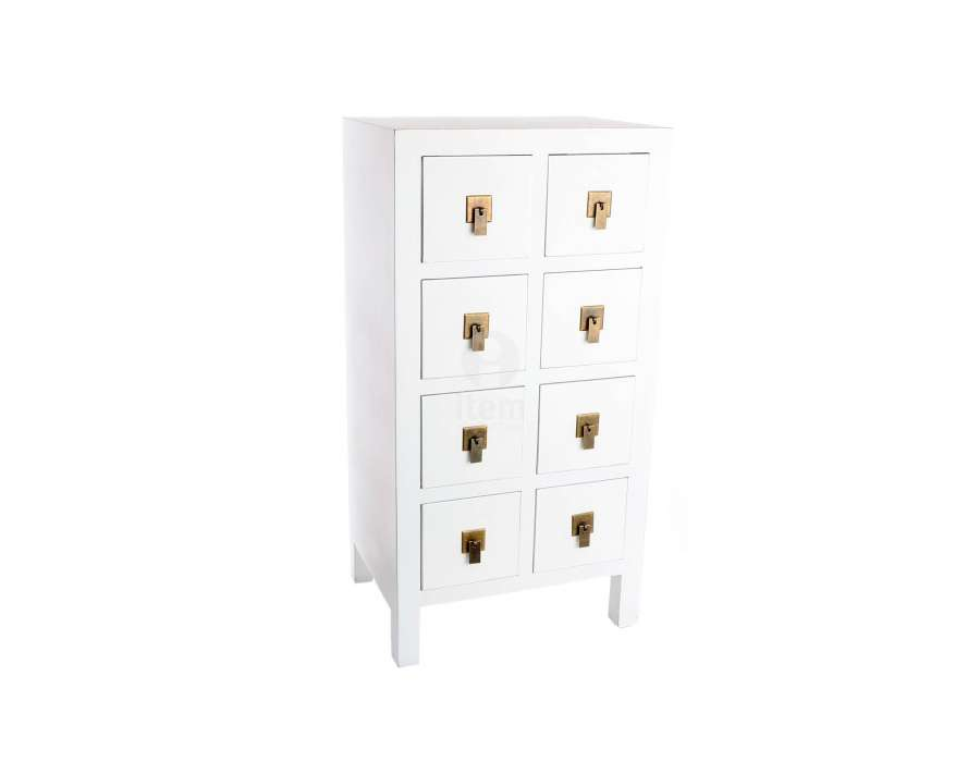 chiffonnier japonais meuble chinois blanc pas cher 8 tiroirs. Black Bedroom Furniture Sets. Home Design Ideas