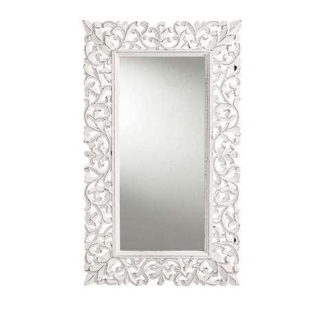 Miroir blanc sculpt romantique 75 cm for Miroir blanc romantique