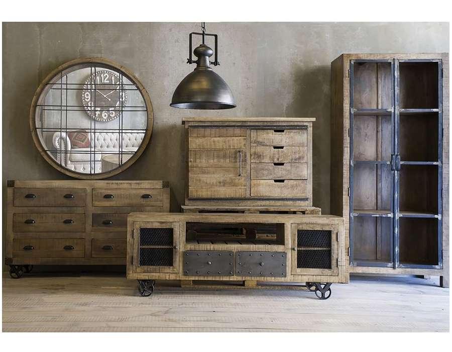 Grand meuble tv bois industriel Vical Home