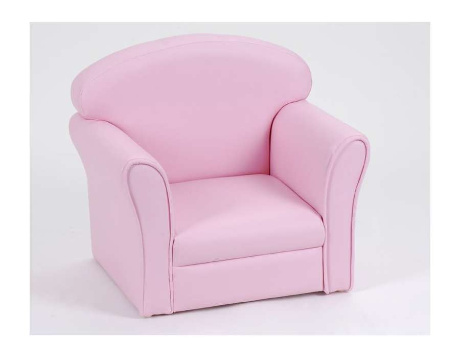 fauteuil club pour enfant de couleur rose de la marque amadeus. Black Bedroom Furniture Sets. Home Design Ideas