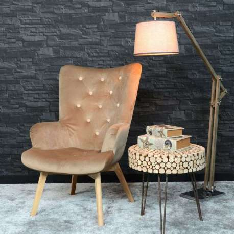 Fauteuil taupe butterfly pas cher
