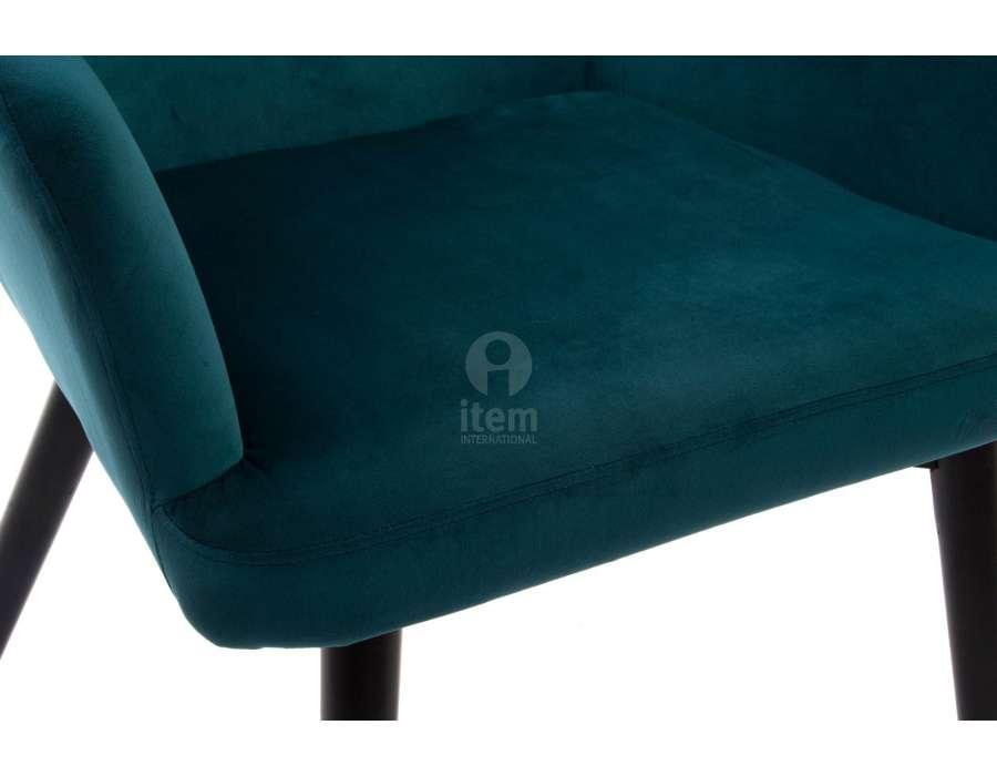 fauteuil bleu canard vert foncé pas cher moderne