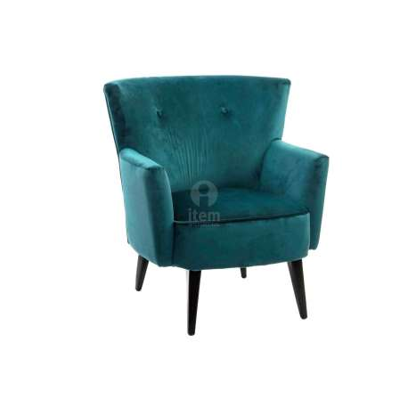 fauteuil r tro bleu canard vert fonc pas cher moderne. Black Bedroom Furniture Sets. Home Design Ideas