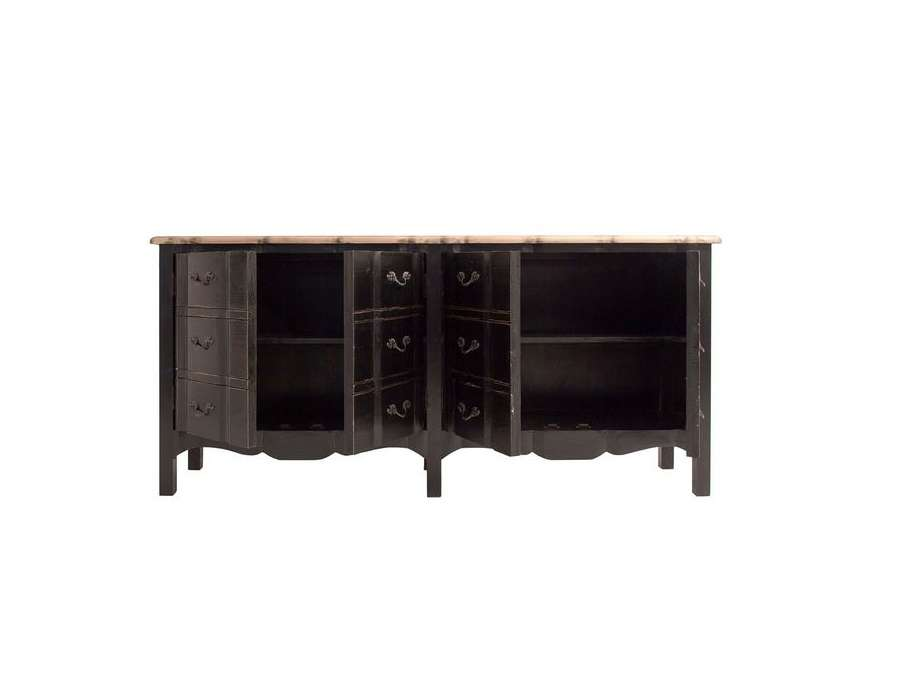 Commode 6 tiroirs noire Vical home