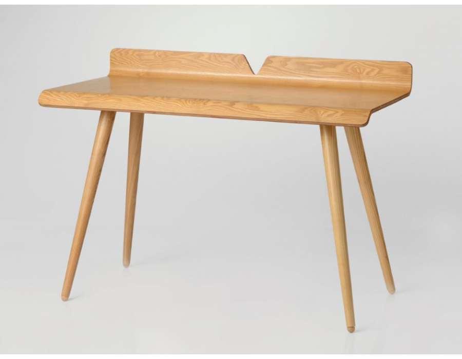 bureau bois en fresne contemporain amadeus. Black Bedroom Furniture Sets. Home Design Ideas