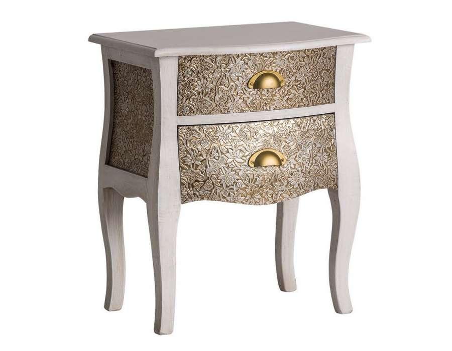 table de nuit orientale blanhe vical home. Black Bedroom Furniture Sets. Home Design Ideas
