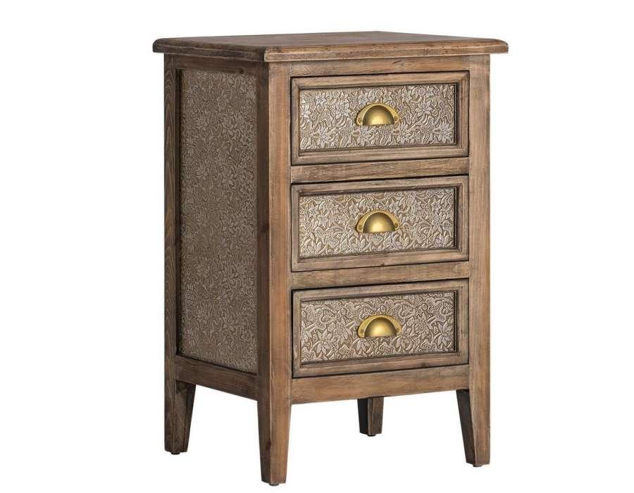 table de chevet orientale sculpt e vical home. Black Bedroom Furniture Sets. Home Design Ideas