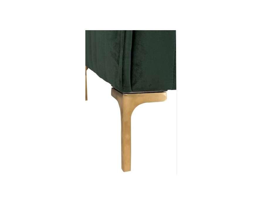 fauteuil velours vert chic jolipa. Black Bedroom Furniture Sets. Home Design Ideas