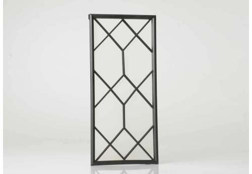 Miroir quadrillé noir décoratif