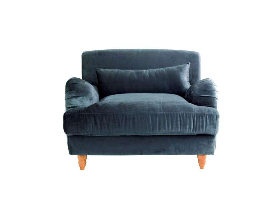 fauteuil de salon long velours gris bleu Résultat Supérieur 46 Incroyable Fauteuil Bleu Gris Image 2017 Kae2