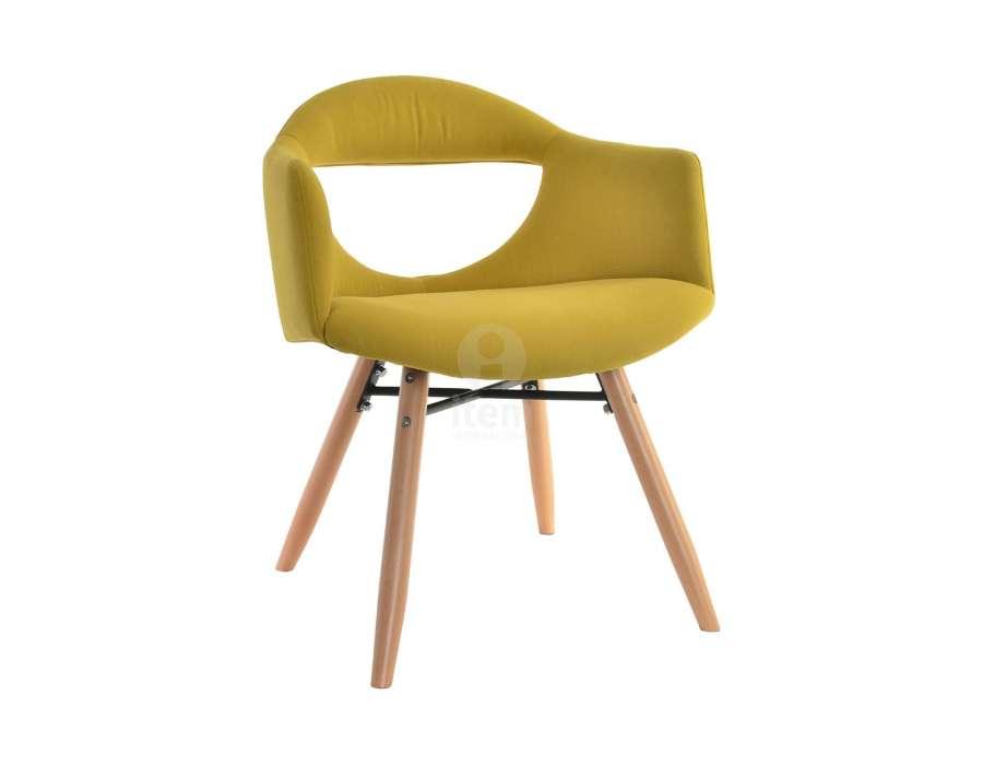 Chaise design jaune