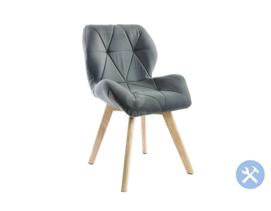 chaise grise scandinave en pin moderne pas chere