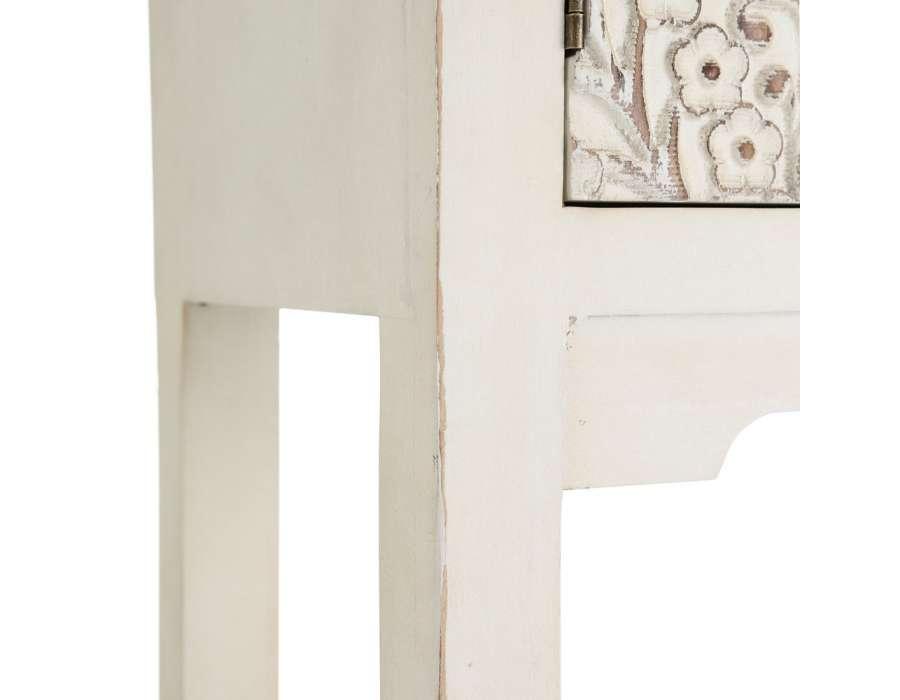 Console blanche sculptée Emmy