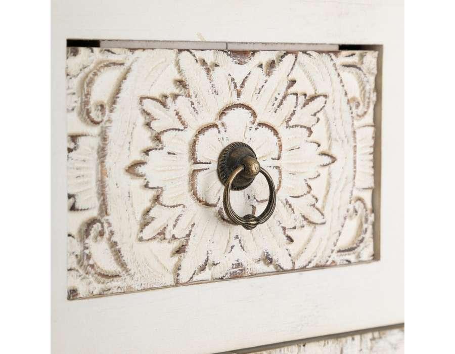 Armoire blanche sculptée 4 portes Emmy