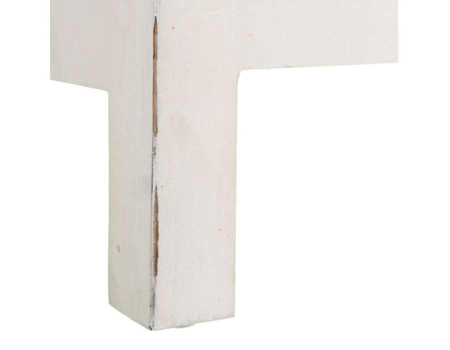 Meuble bas blanc sculpté Emmy