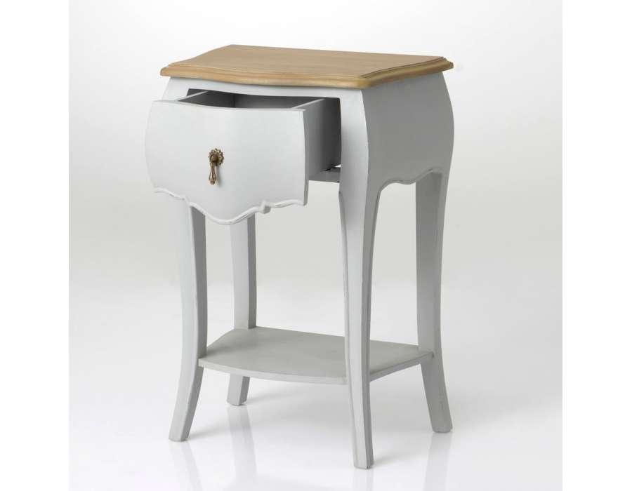 table de nuit baroque grise 1 tiroir amadeus. Black Bedroom Furniture Sets. Home Design Ideas