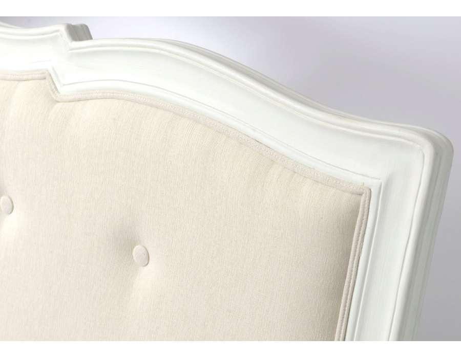 t te de lit romantique capitonn e 180 cm. Black Bedroom Furniture Sets. Home Design Ideas