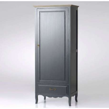 armoire une porte grise romantique amadeus. Black Bedroom Furniture Sets. Home Design Ideas