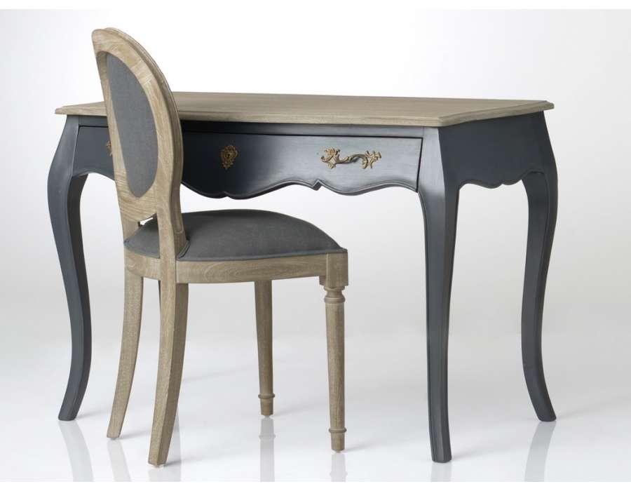 bureau gris baroque pas cher amadeus. Black Bedroom Furniture Sets. Home Design Ideas