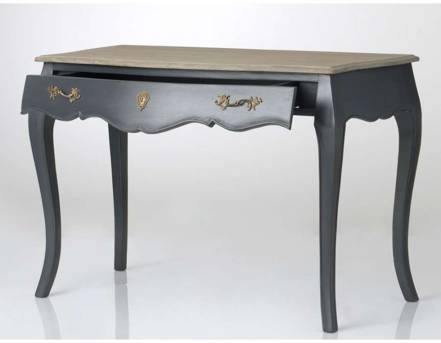 bureau gris baroque pas cher amadeus. Black Bedroom Furniture Sets. Home Design Ideas