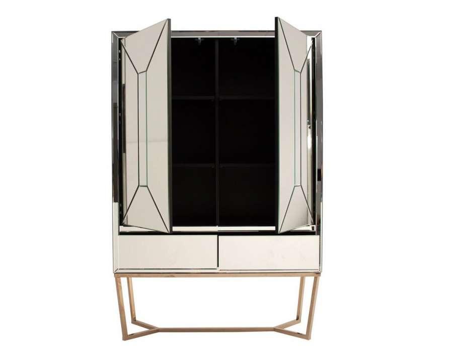 armoire miroir design avec 2 portes tr s chic vical home. Black Bedroom Furniture Sets. Home Design Ideas