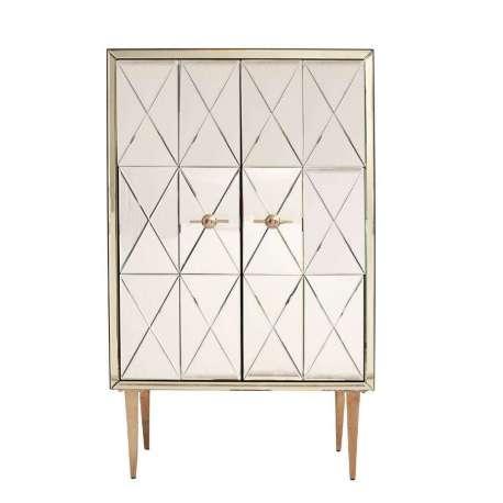 Armoire miroir design losange avec 2 portes tr s chic for Miroir losange