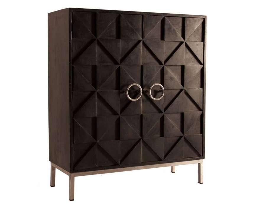 Armoire design noire chic