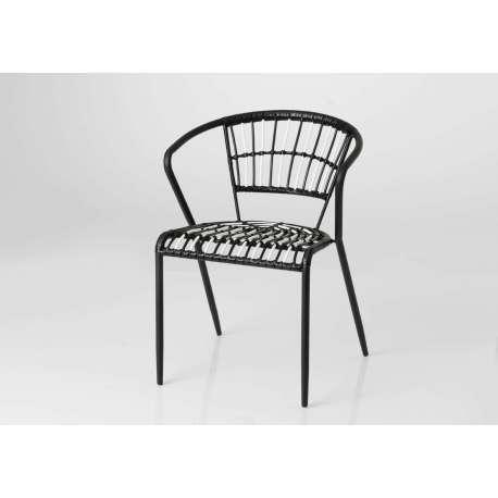 chaise rotin noire et blanche bohme - Chaise Rotin Noir