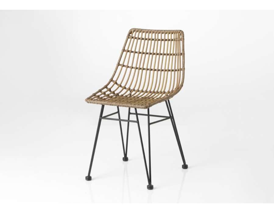 Chaise rotin chaise de bistrot en rotin drucker bordeaux - Chaises rotin ikea ...