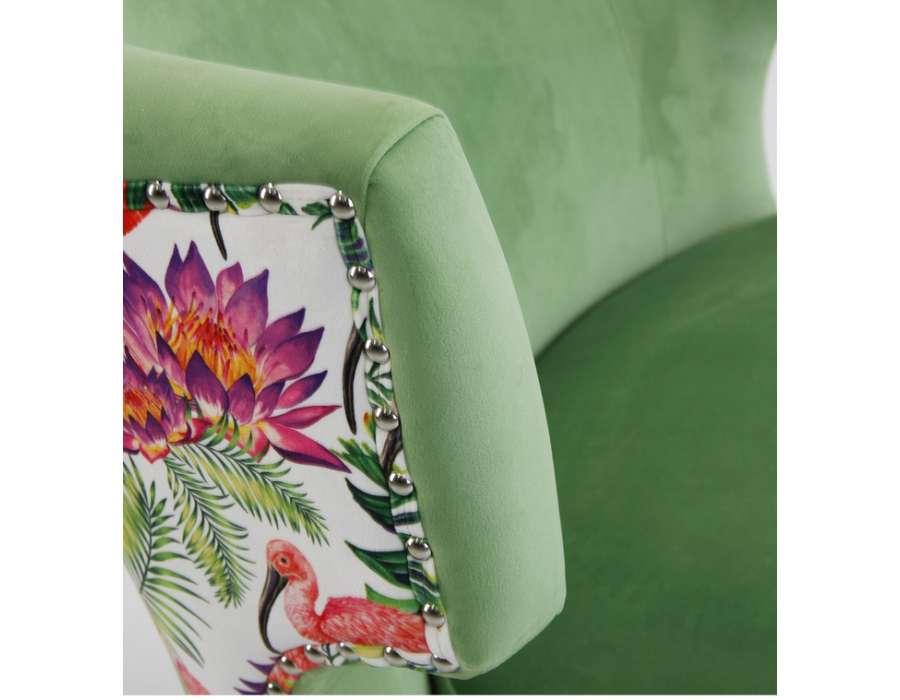Fauteuil vert fleuri Ostende