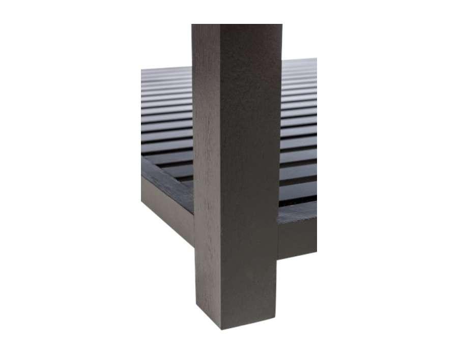 Table basse bois noir et verre prix int ressant for Table basse noir et bois