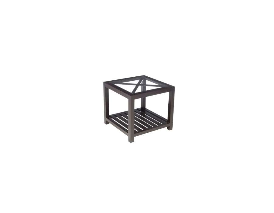 bout de canap bois noir et verre prix int ressant. Black Bedroom Furniture Sets. Home Design Ideas