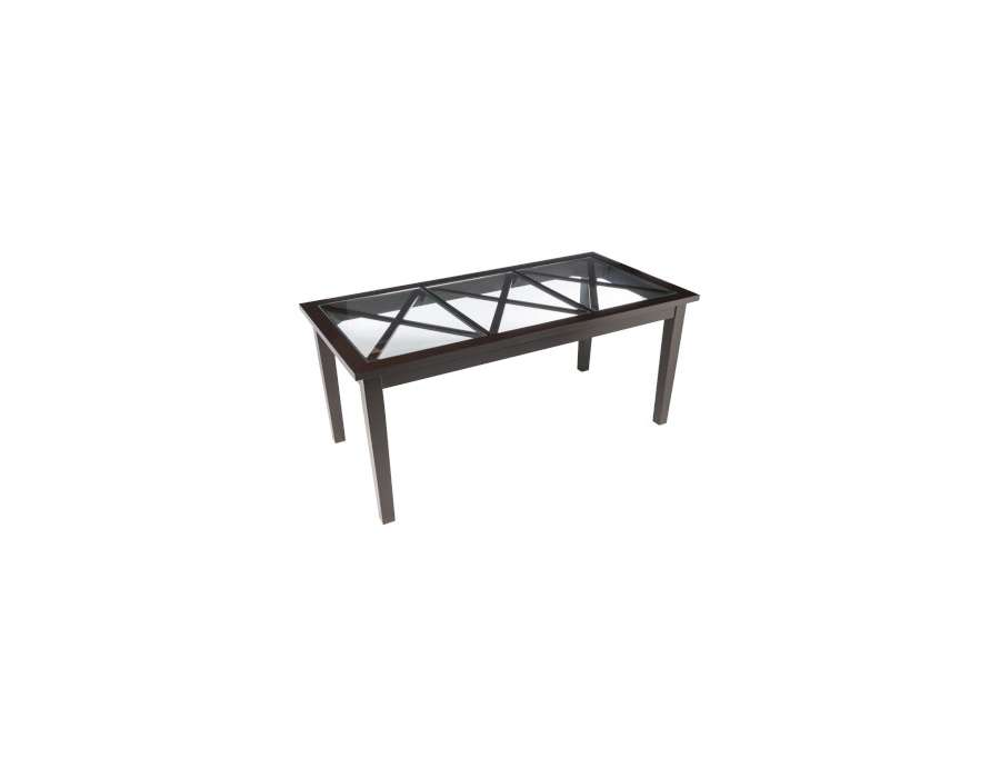 Table campagne bois noir Jolipa