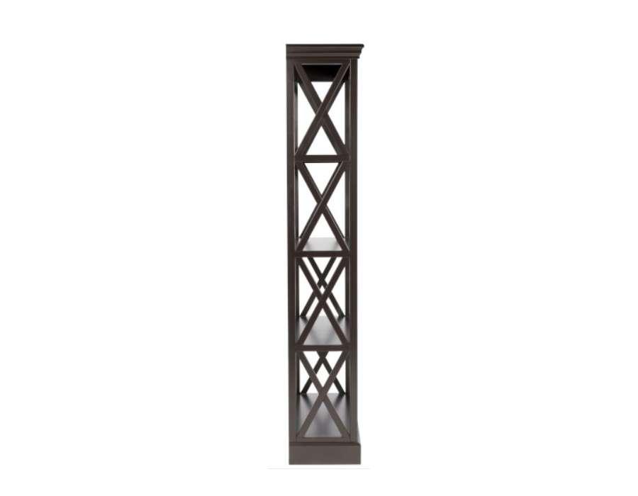Etagère bois noir croix