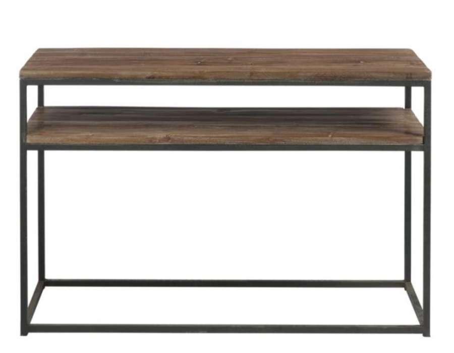 Console industrielle en bois 2 niveaux Jolipa