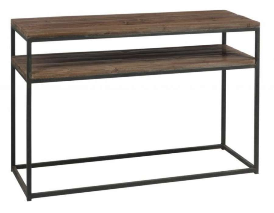 table de drapier industrielle console drapier m tal bois. Black Bedroom Furniture Sets. Home Design Ideas
