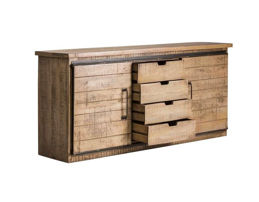 Bahut bois et métal robuste industriel