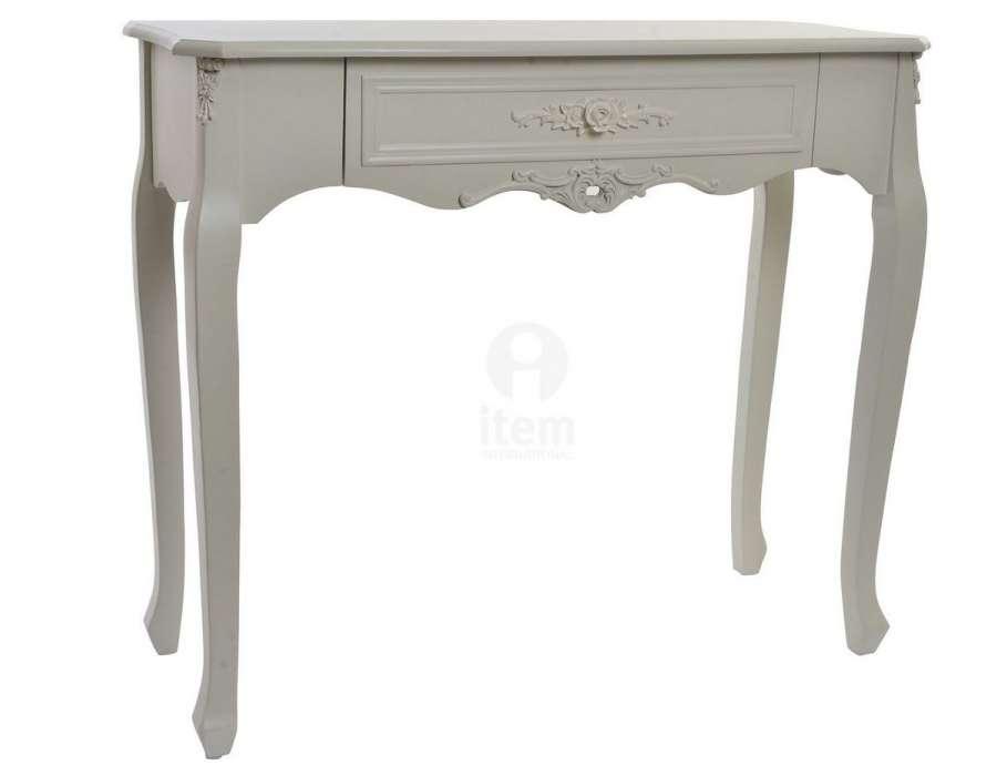 console blanche romantique avec decorations pas chere. Black Bedroom Furniture Sets. Home Design Ideas