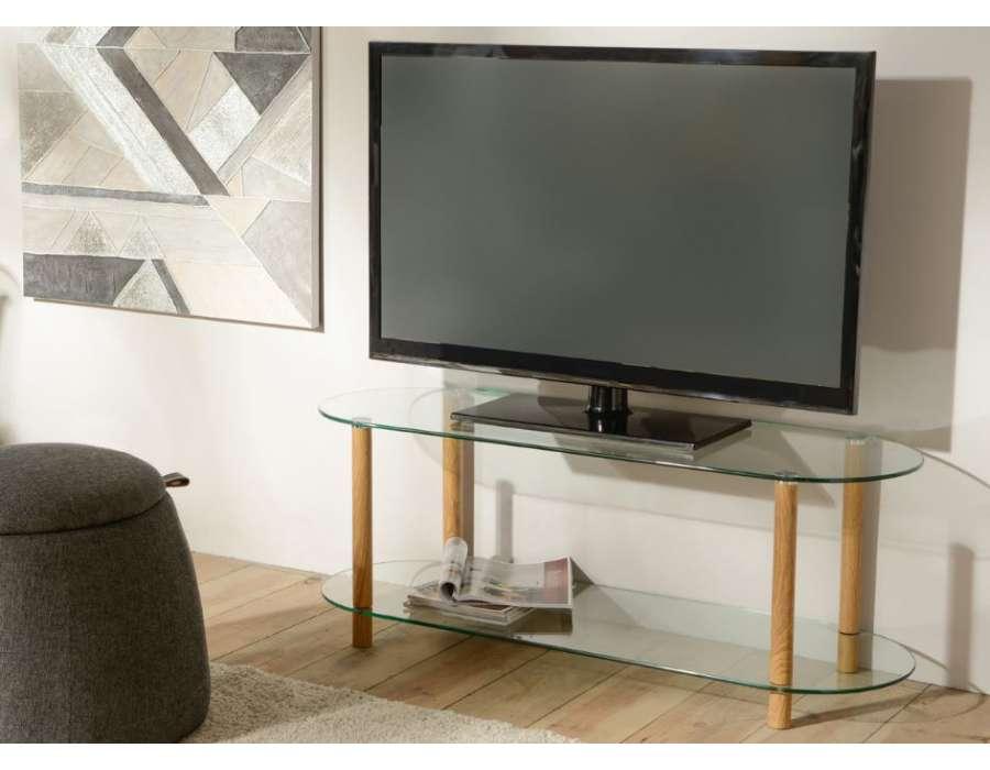 Meuble télé en verre design