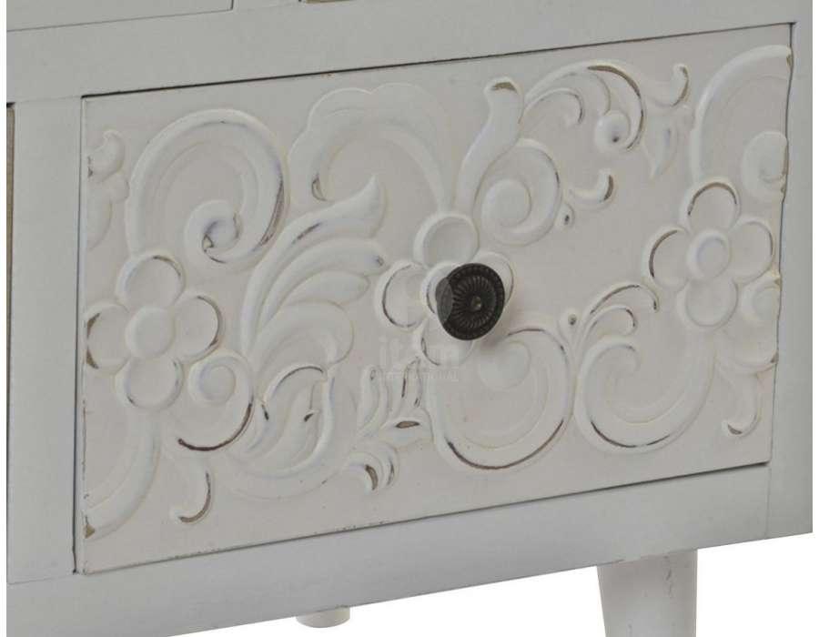 Commode blanche sculptée 11 T Océane