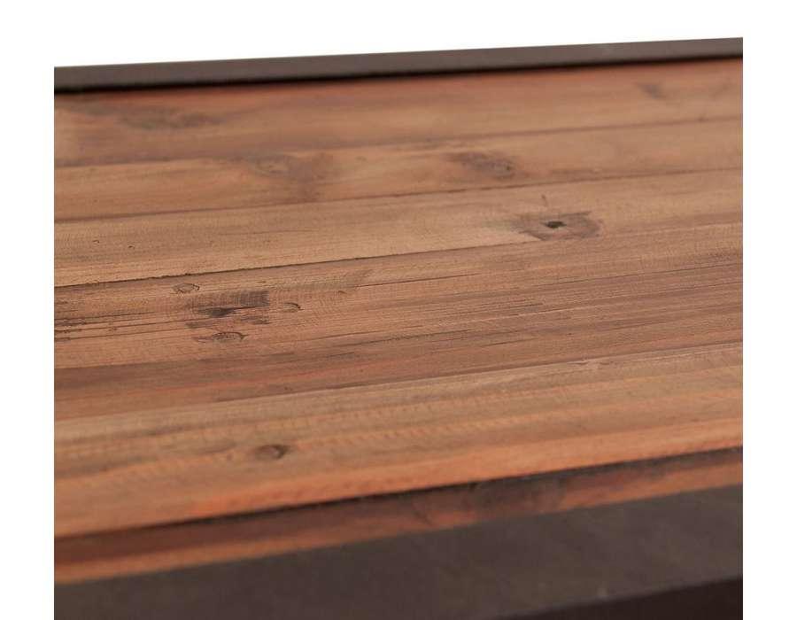 Meuble tv bois métal 4 tiroirs 180 cm