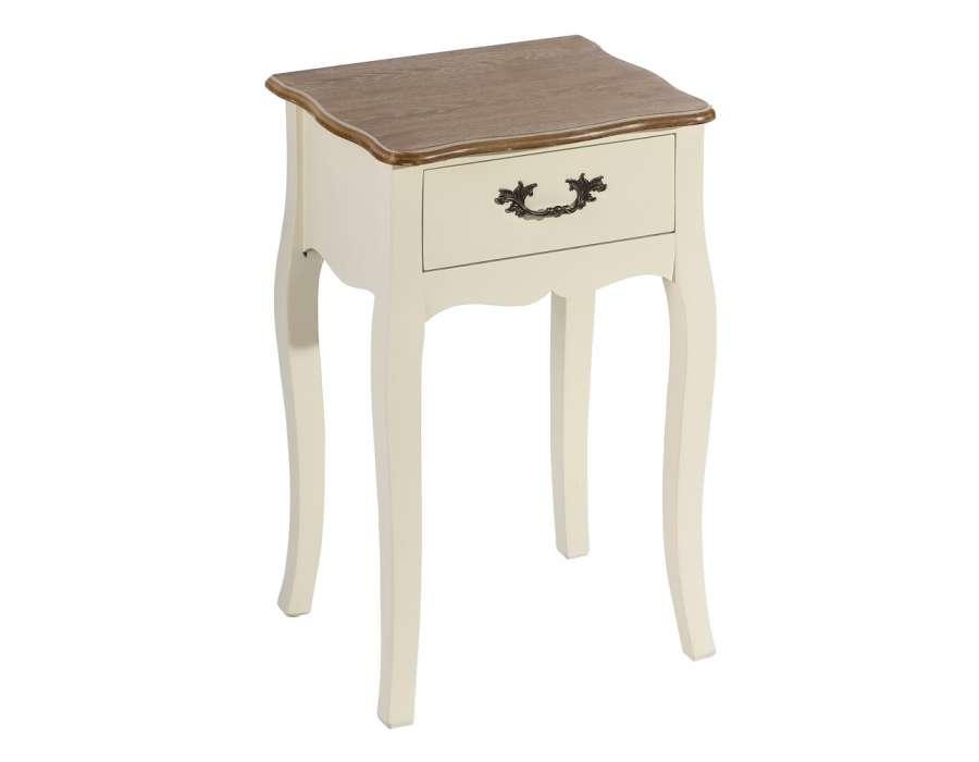 petite table de nuit romantique avec un plateau en bois c rus pas cher. Black Bedroom Furniture Sets. Home Design Ideas