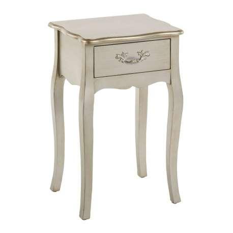petite table de chevet argente ccile