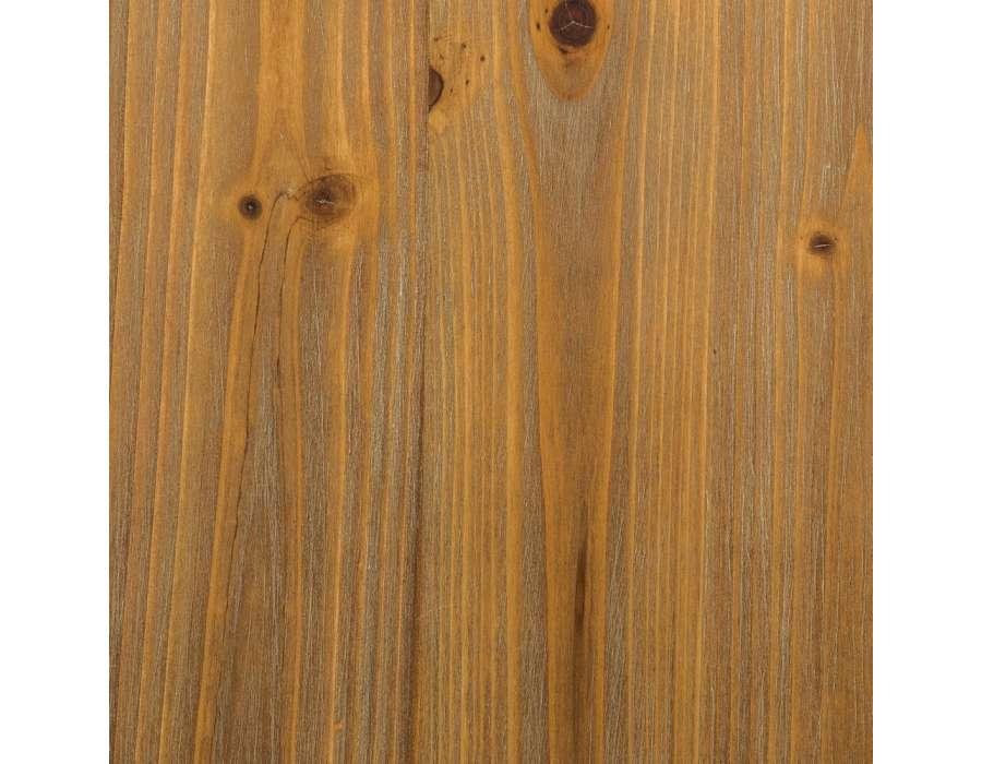 Bureau industriel métal noir vieilli et plateau bois vintage